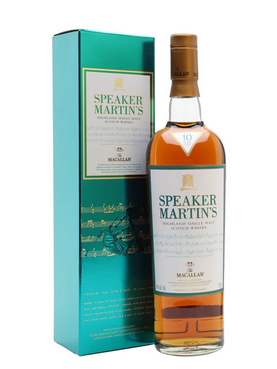 Macallan 10 Year Old / Speaker Martin's Speyside Whisky