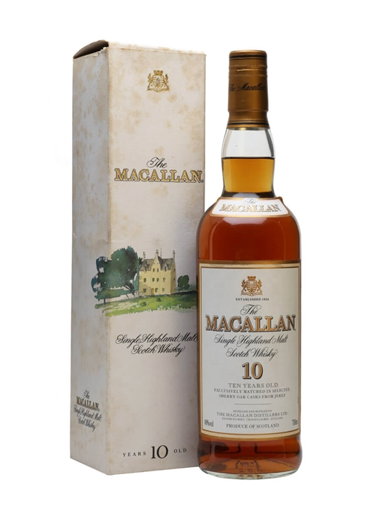 Macallan 10 Year Old / Sherry / Bot.1990s Speyside Whisky