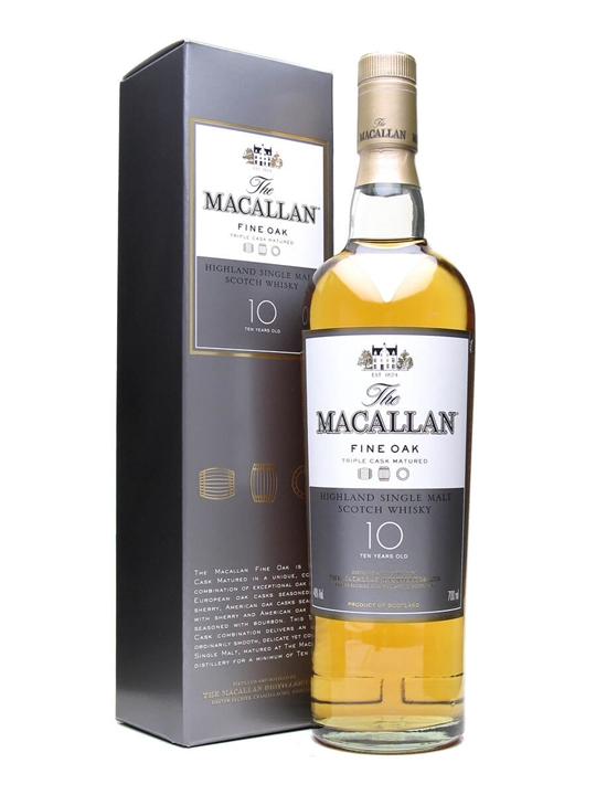 Macallan 10 Year Old / Fine Oak Speyside Single Malt Scotch Whisky