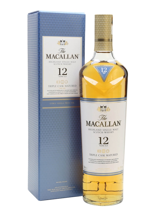 Macallan 12 Year Old Triple Cask Matured Speyside Whisky