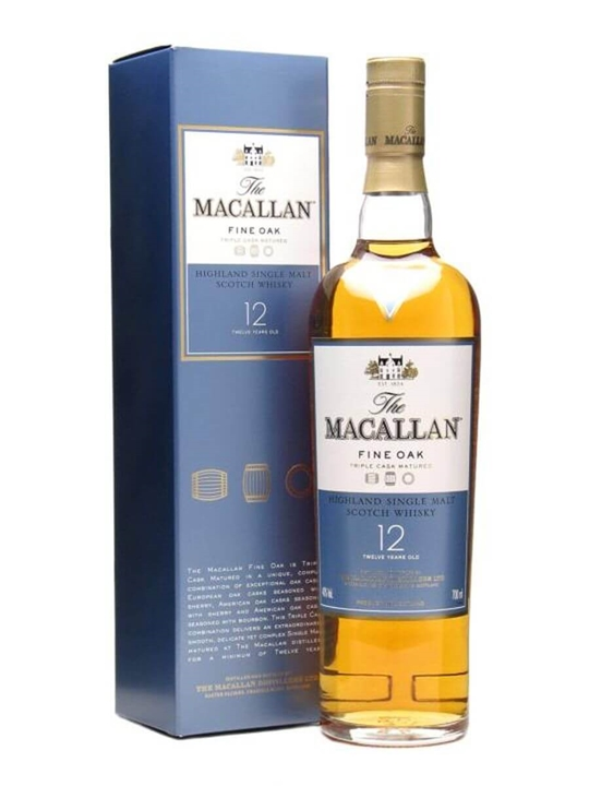 Macallan Fine Oak 12 Year Old Speyside Single Malt Scotch Whisky