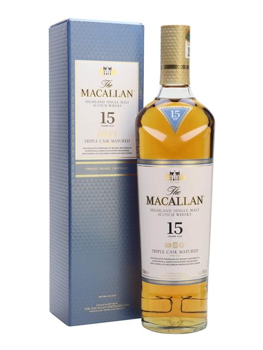 Macallan 15 Year Old / Triple Cask Speyside Single Malt Scotch Whisky