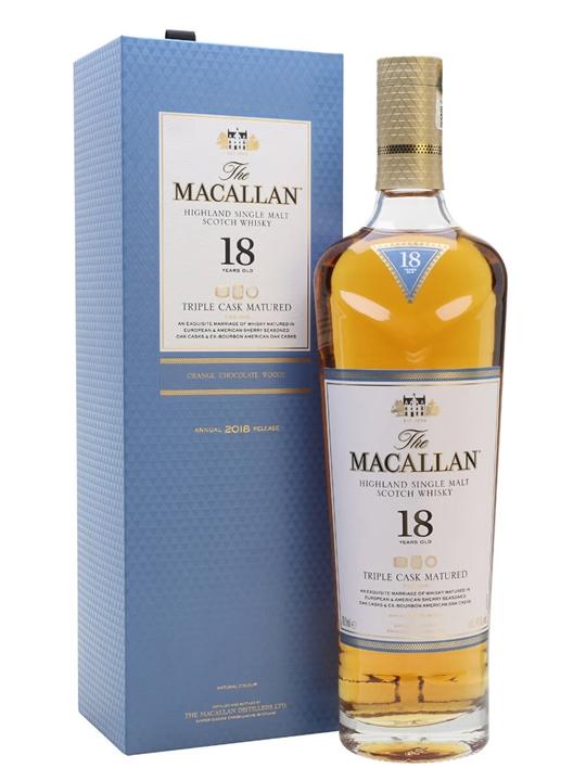 Macallan Fine Oak 18 Year Old Speyside Single Malt Scotch Whisky