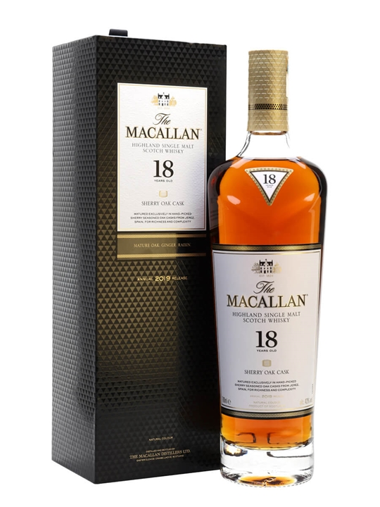 Macallan 18 Year Old / Sherry Oak / 2019 Release Speyside Whisky