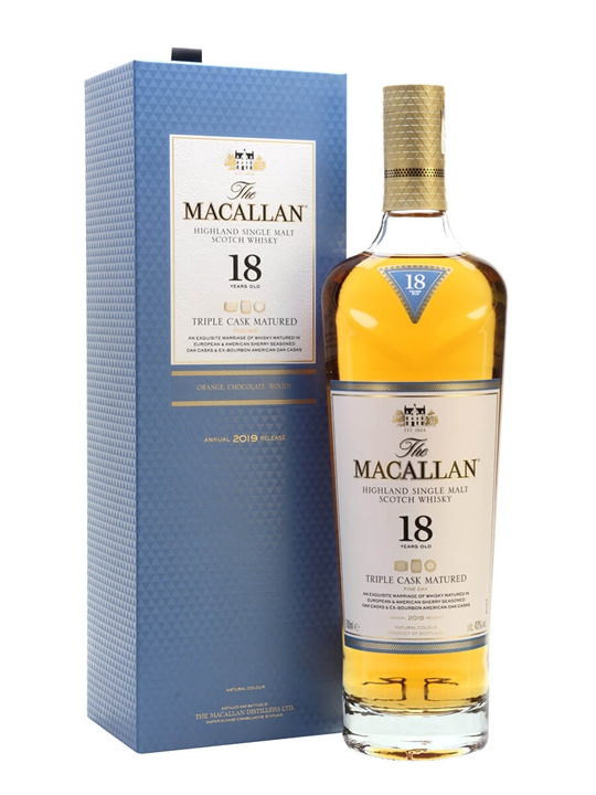 Macallan 18 Year Old / Triple Cask / 2019 Release Speyside Whisky