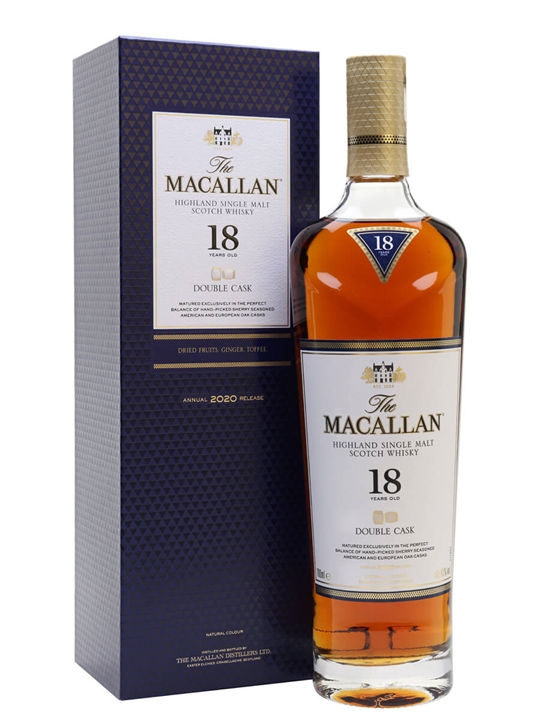 Macallan 18 Year Old Double Cask / 2020 Release Speyside Whisky