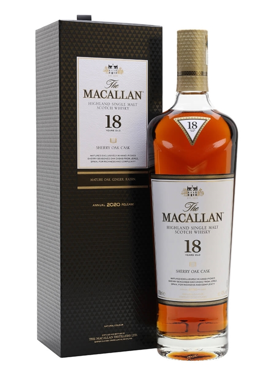 Macallan 18 Year Old / Sherry Oak / 2020 Release Speyside Whisky