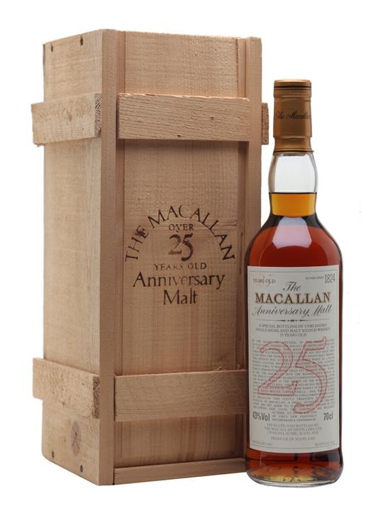 Macallan 1967  25 Year Old  Anniversary Malt Speyside Whisky