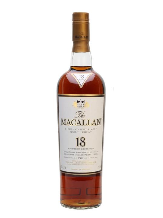 Macallan 1989 / 18 Year Old Speyside Single Malt Scotch Whisky