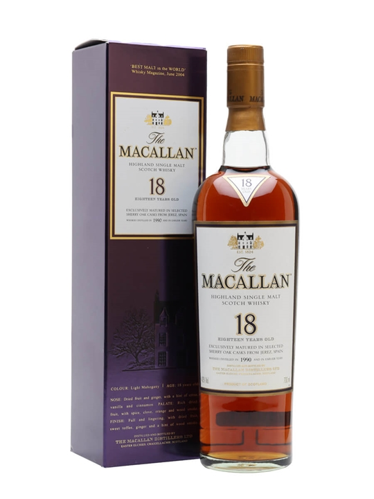 Macallan 1990 / 18 Year Old / Sherry Oak Speyside Whisky