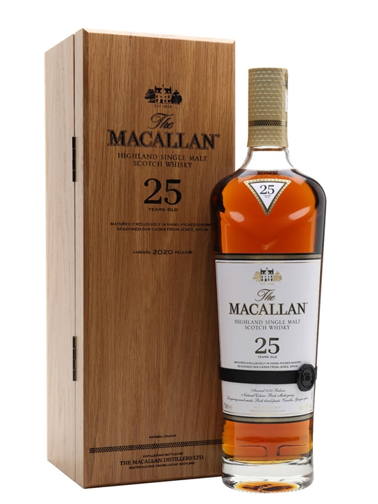 Macallan 25 Year Old / Sherry Oak / 2020 Release Speyside Whisky