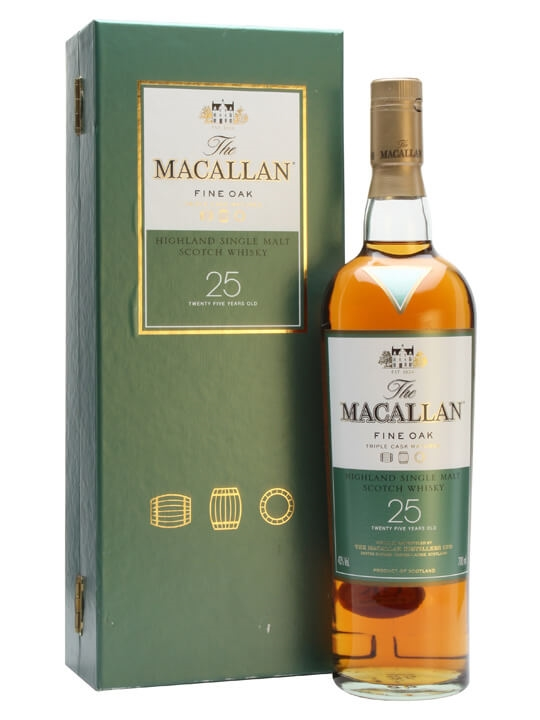 Macallan 25 Year Old / Fine Oak Speyside Single Malt Scotch Whisky