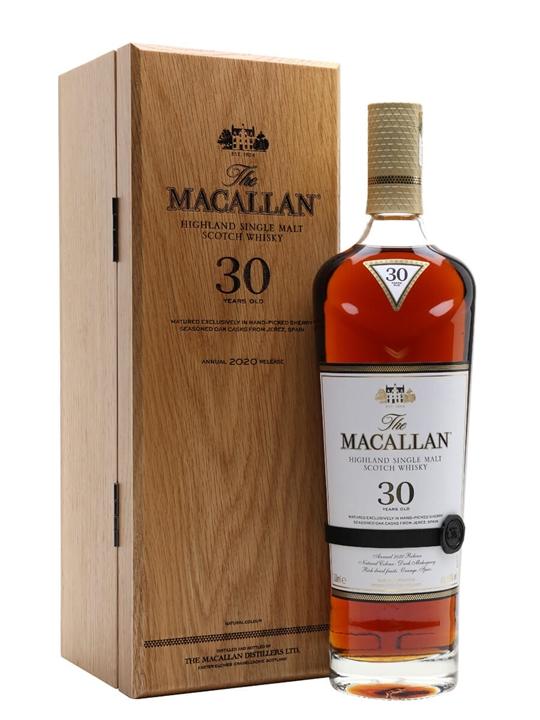 Macallan 30 Year Old / Sherry Oak / 2020 Release Speyside Whisky
