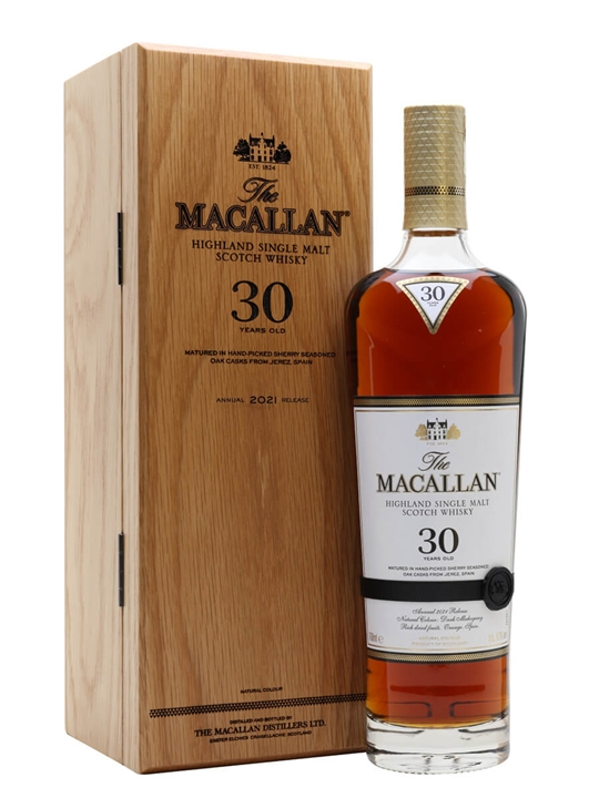 Macallan 30 Year Old / Sherry Oak / 2021 Release Speyside Whisky