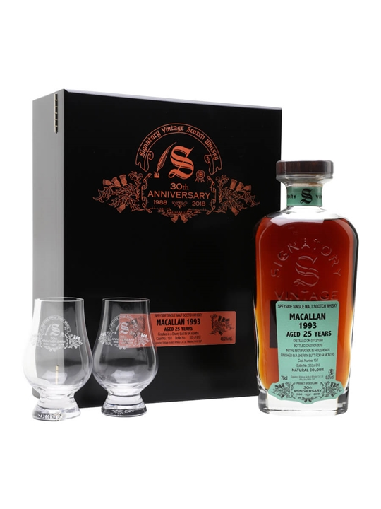 Macallan 1993 / 25 Year Old / Signatory 30th Anniversary Speyside Whisky