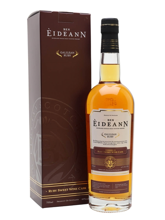 Ben Eideann Ruby Galilean Kosher Whisky / Sweet Red Wine Finish Highland Whisky