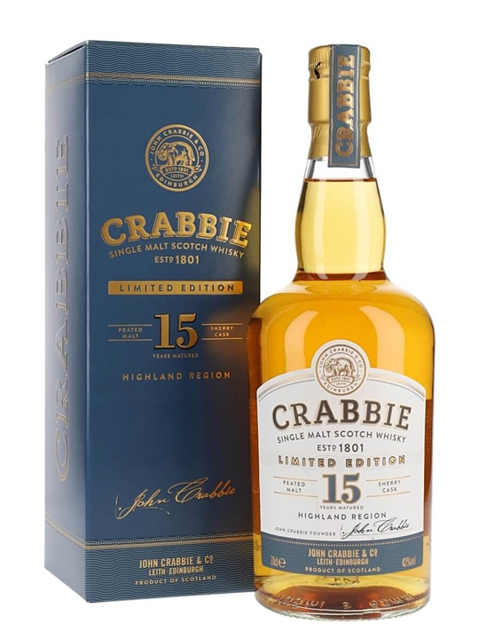 John Crabbie 15 Year Old Highland Single Malt Scotch Whisky