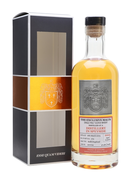 'Secret' Speyside 2003 / 14 Year Old / The Exclusive Malts Speyside Whisky