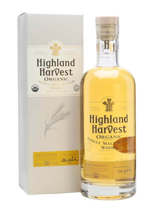 Highland Harvest Organic / Sauternes Finish Single Malt Scotch Whisky