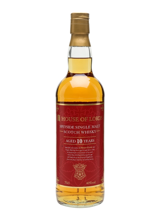 House Of Lords 10 Year Old Speyside Single Malt Scotch Whisky