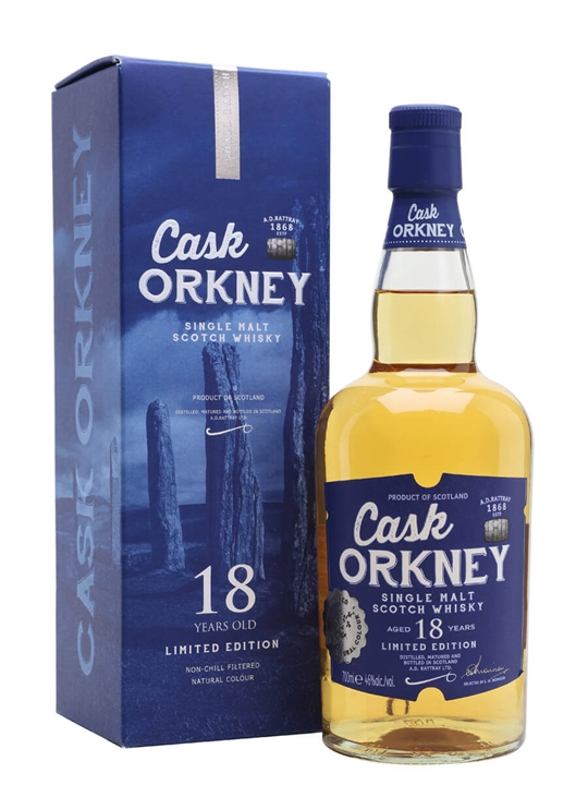 Cask Orkney 18 Year Old Island Single Malt Scotch Whisky