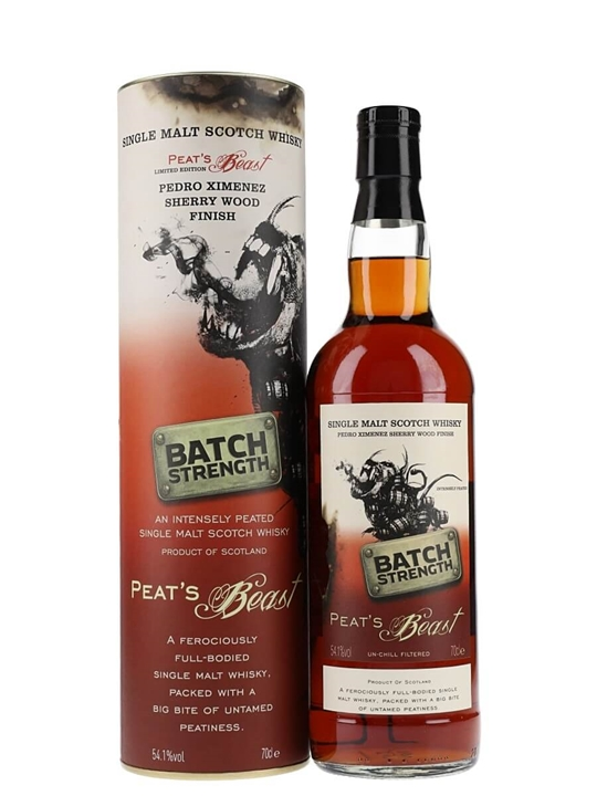 Peat's Beast Batch Strength / Pedro Ximenez Sherry Finish Single Whisky
