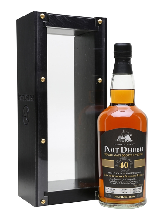 Poit Dhubh 40 Year Old / 40th Anniversary Founder's Reserve Single Whisky