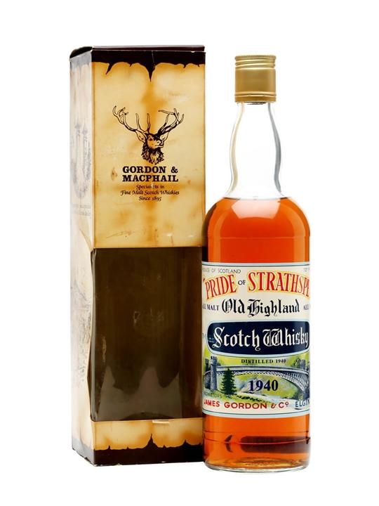 Pride Of Strathspey 1940 / Bot.1970s Speyside Whisky