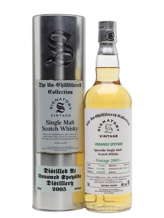Unnamed Speyside 2005 / 12 Year Old / Signatory Speyside Whisky