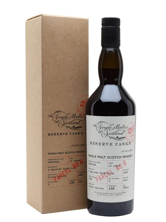 A Speyside Distillery 12 Year Old / Reserve Cask Parcel 6 Speyside Whisky