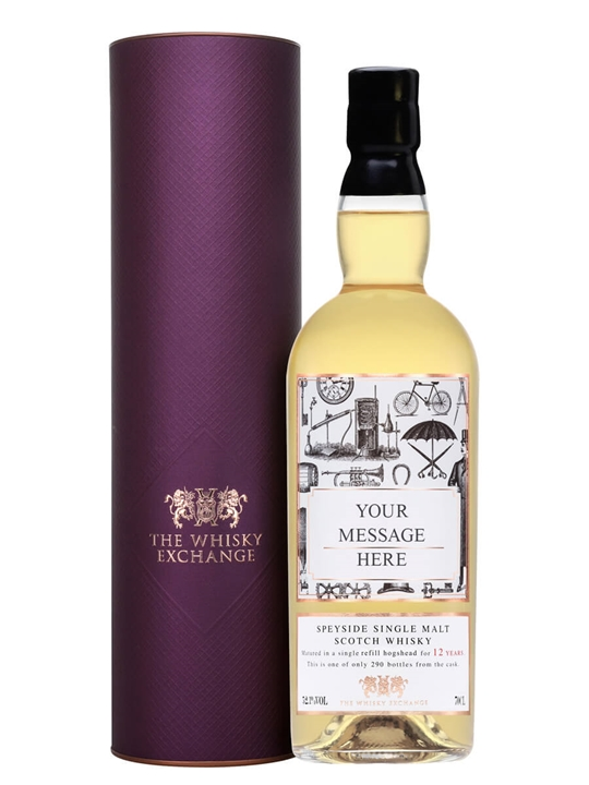 Personalised 12 Year Old Scotch Whisky Speyside Whisky