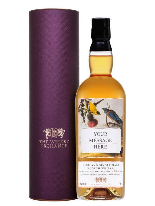 Personalised 18 Year Old Scotch Whisky Highland Whisky