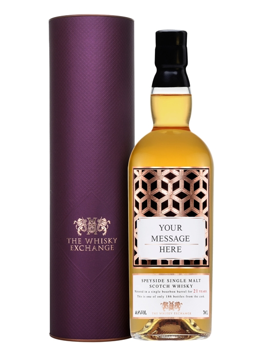Personalised 21 Year Old Scotch Whisky Speyside Whisky