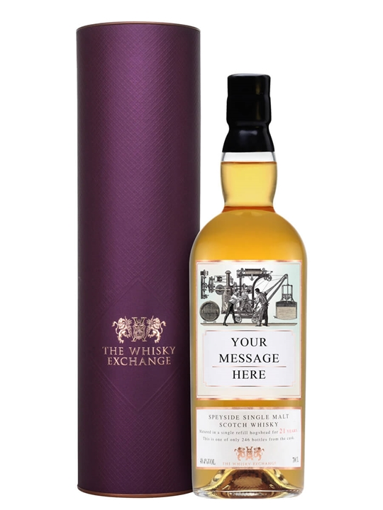 Personalised 21 Year Old Scotch Whisky / 2nd Edition Speyside Whisky