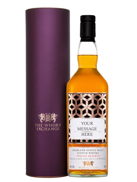 Personalised Highland Special Reserve / Sherry Cask Single Malt Highland Whisky