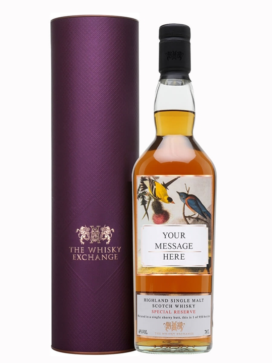 Click to view product details and reviews for Personalised Highland Special Reserve Single Malt Sherry Cask Highland Whisky.