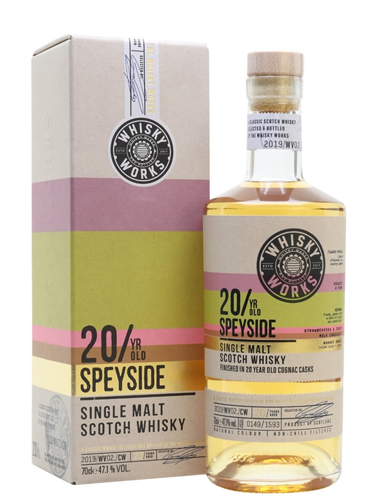 20 Year Old Speyside Cognac Finish / Whisky Works Single Whisky