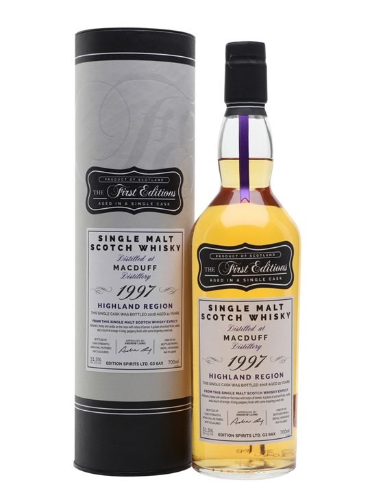 Macduff 1997 / 21 Year Old / First Editions Highland Whisky
