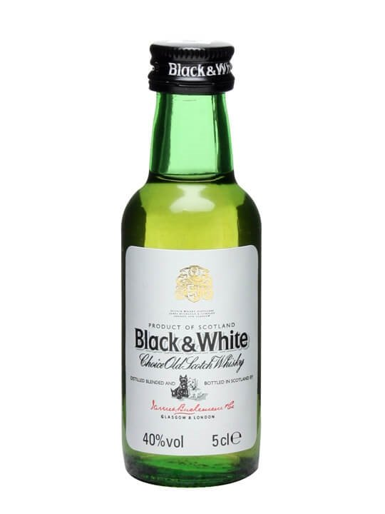 Black & White Blended Whisky  Miniature Blended Scotch Whisky
