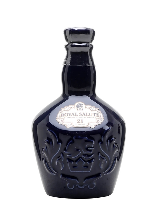 Royal Salute 21 Year Old / Blue Ceramic Miniature Blended Whisky