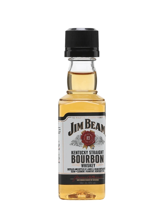 Jim Beam White Label Miniature Kentucky Straight Bourbon Whiskey