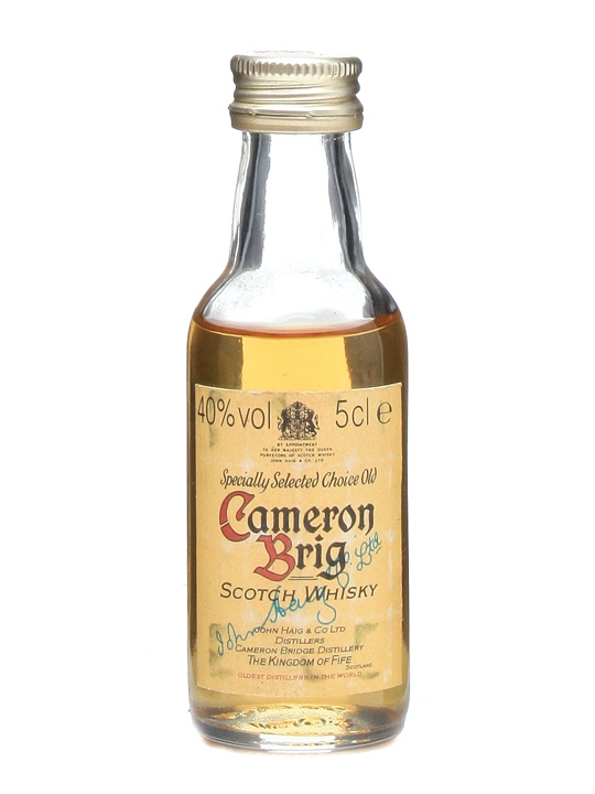 Cameron Brig Miniature / Bot.1980s Single Grain Scotch Whisky
