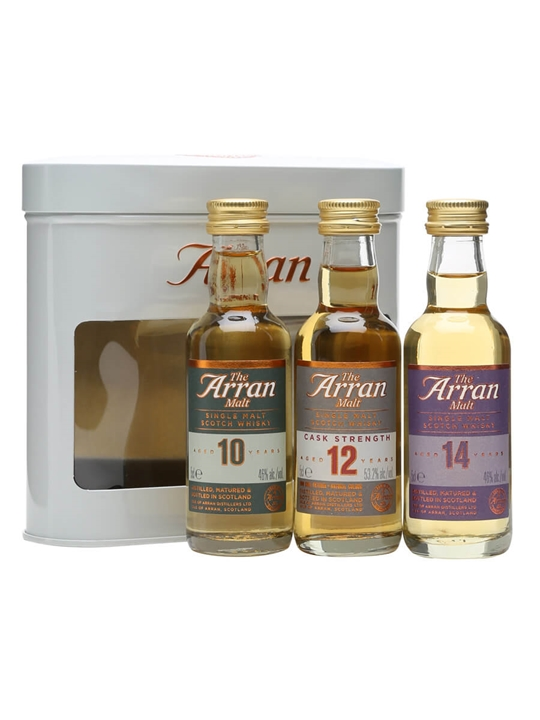 Arran 3-pk Miniature Set / 10-12-14 Year Old / 3x5cl Island Whisky