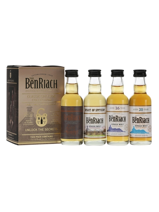 Benriach Classic Speyside Miniature Collection / 4x5cl Speyside Whisky