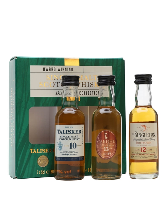 Single Malts Discovery Mini Pack (talisker 10 / Cardhu 12 / Singleton 12) Single Whisky