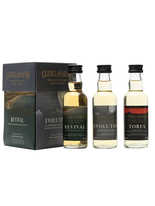 Glenglassaugh Mini Set / Evolution, Revival & Torfa / 3x5cl Highland Whisky