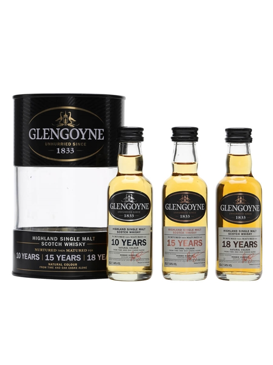 Glengoyne Mini Pack / 10 Year Old, 15 Year Old & 18 Year Old Highland Whisky