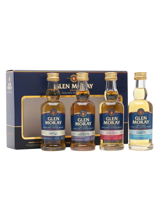Glen Moray Classic Range Miniature Gift Set / 4x5cl Speyside Whisky