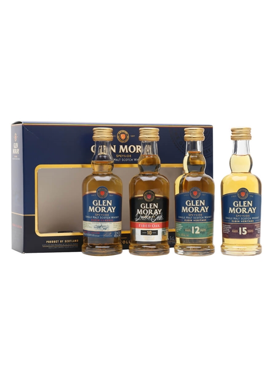 Glen Moray Heritage Range Miniature Gift Set / 4x5cl Speyside Whisky