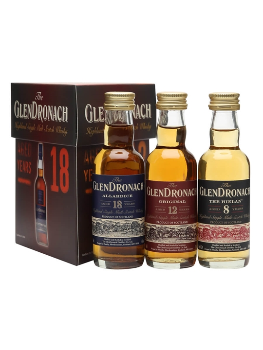 Glendronach Mini Pack / 8,12, 18 Years Old / 3x5cl Speyside Whisky